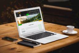 Portfolio johnny10 KS Harnaś Tymbark responsive web design macbook